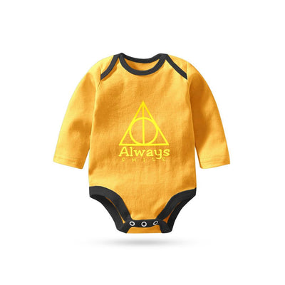 Polo Republica Always Smile Long Sleeve Pique Baby Romper Babywear Polo Republica Yellow Black 0-3 Months