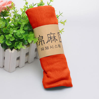 Alsleben Women Beautiful Silky Scarf Women's Accessories Sunshine China Orange