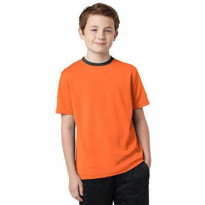 Polo Republica Kids Ringer Tee Shirt Boy's Tee Shirt Polo Republica Orange 2 Years