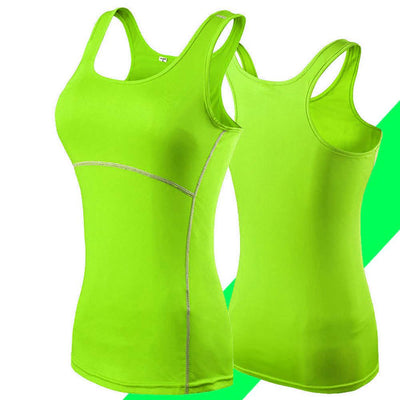 MZ Tight Bottoming Fast-drying Cross-border Gym Vest Women's lingerie Sunshine China Fluorescent Parrot L