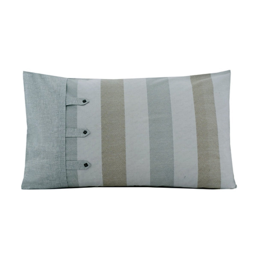 Khas Pieridae Pack of 2 Texture Stripe Pillow Cover - ExportLeftovers.com