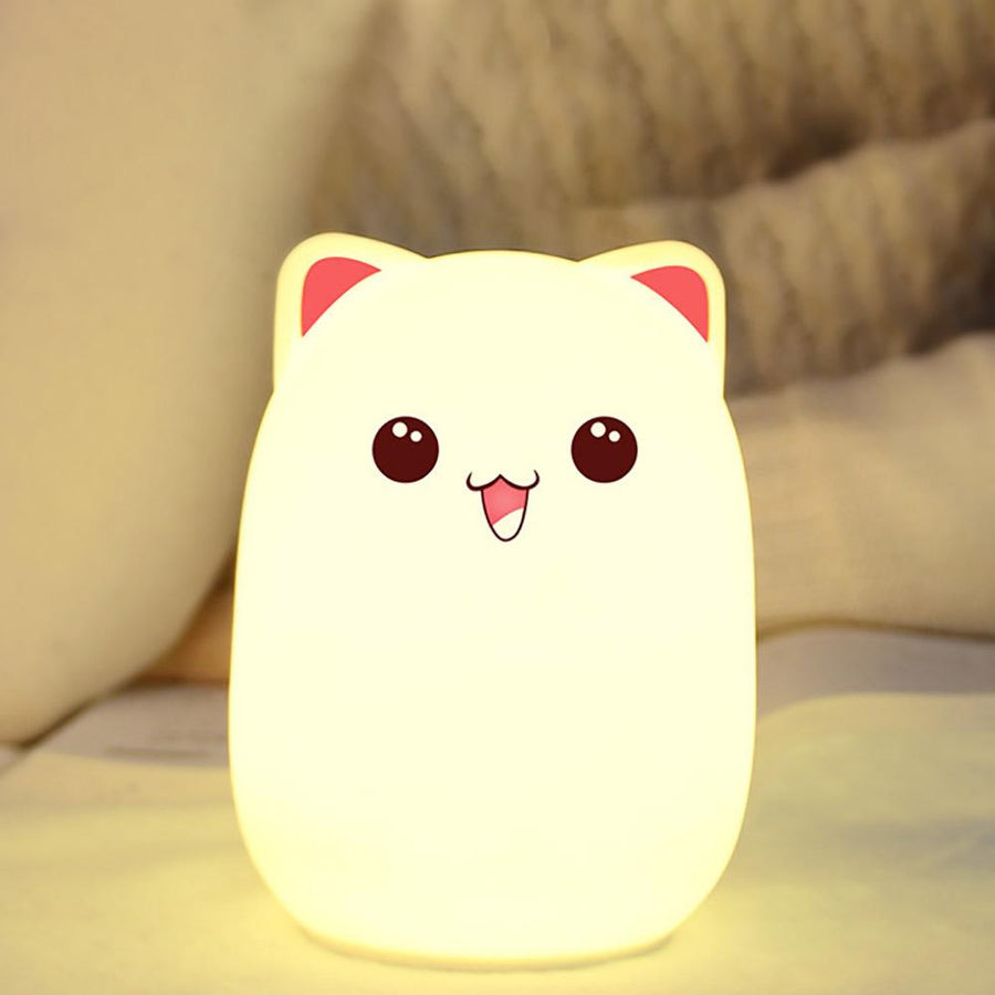 Cute Bud Bear Silicone Color Changing Lamp Without Remote