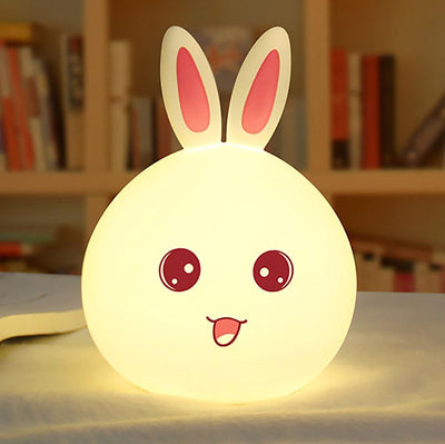 Cute Rabbit Silicone Color Changing Lamp