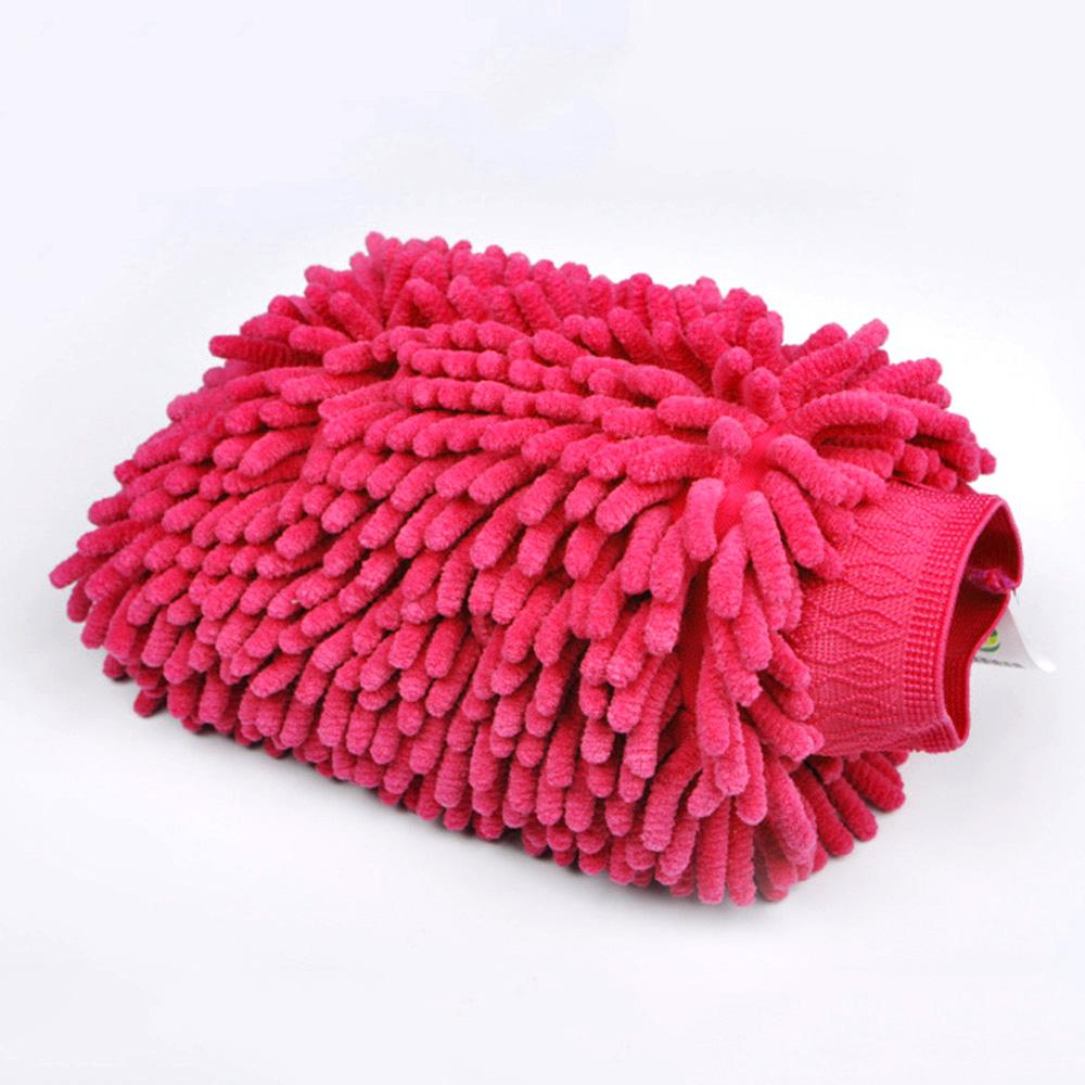 Chenille Cleaning Scrub Car Rag Glove General Accessories Sunshine China Magenta