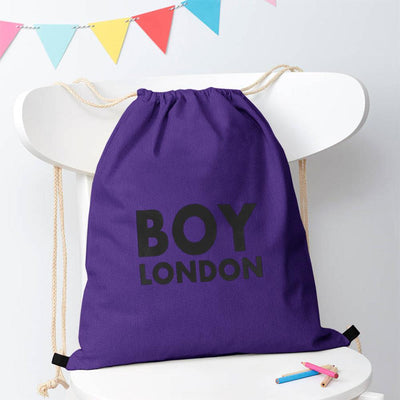 Polo Republica London Boy Drawstring Bag Drawstring Bag Polo Republica Purple Black