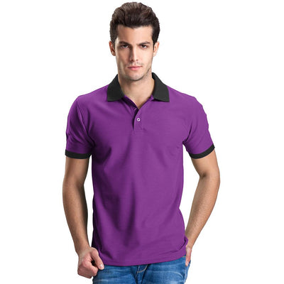 Polo Republica Abrud Polo Shirt Men's Polo Shirt Polo Republica Purple Black S