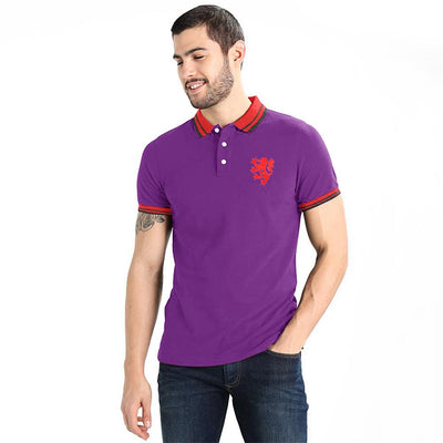 Polo Republica Leo Polo Shirt Men's Polo Shirt Polo Republica Purple Red L