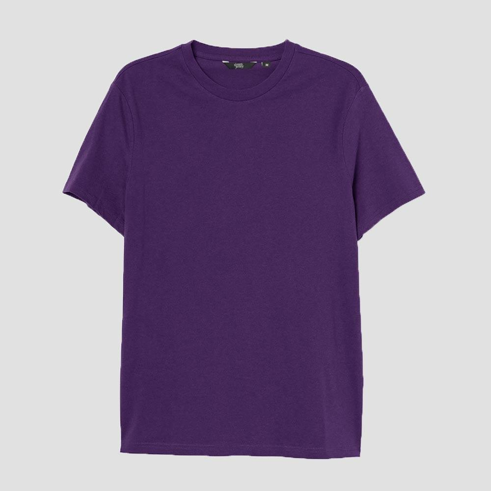 SJ Men's Lavish Crew Neck Tee Shirt Men's Tee Shirt Image Purple XS