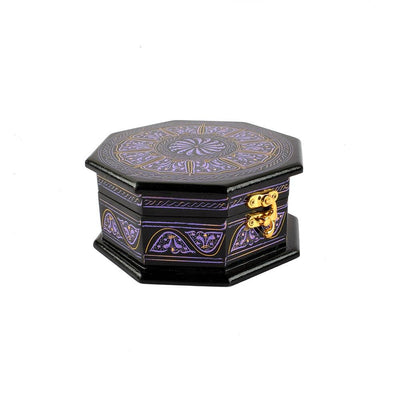 Grimstad Octagon Jewelry Box Jewellery SAK Purple