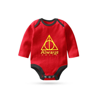 Polo Republica Always Smile Long Sleeve Pique Baby Romper Babywear Polo Republica Red Black 0-3 Months