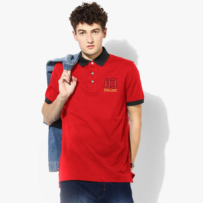 Polo Republica 03 England Short Sleeve Polo Shirt Men's Polo Shirt Polo Republica Red Black S