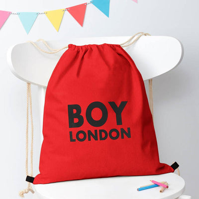 Polo Republica London Boy Drawstring Bag Drawstring Bag Polo Republica Red Black