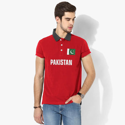 Polo Republica Pak Flag Polo Shirt Men's Polo Shirt Polo Republica Red Graphite S