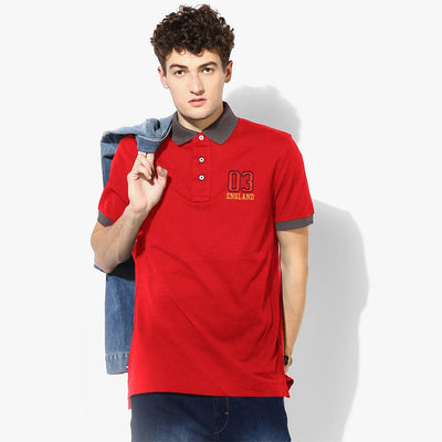 Polo Republica 03 England Short Sleeve Polo Shirt Men's Polo Shirt Polo Republica Red Graphite S