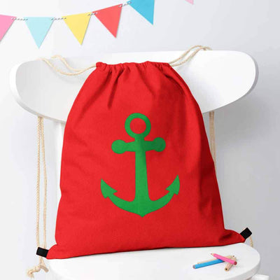 Polo Republica Ship Langar Drawstring Bag Drawstring Bag Polo Republica Red Green
