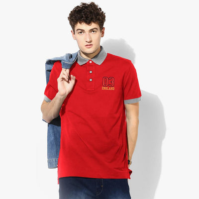 Polo Republica 03 England Short Sleeve Polo Shirt Men's Polo Shirt Polo Republica Red Heather Grey S