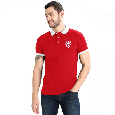 Polo Republica Leo Polo Shirt Men's Polo Shirt Polo Republica Red White S