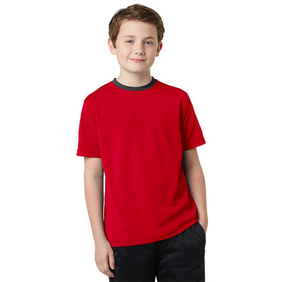 Polo Republica Kids Ringer Tee Shirt Boy's Tee Shirt Polo Republica Red 2 Years