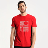 LE Night Deer Tee Shirt Men's Tee Shirt Image Red S