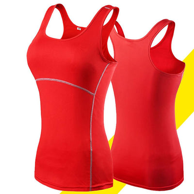MZ Tight Bottoming Fast-drying Cross-border Gym Vest Women's lingerie Sunshine China Red L