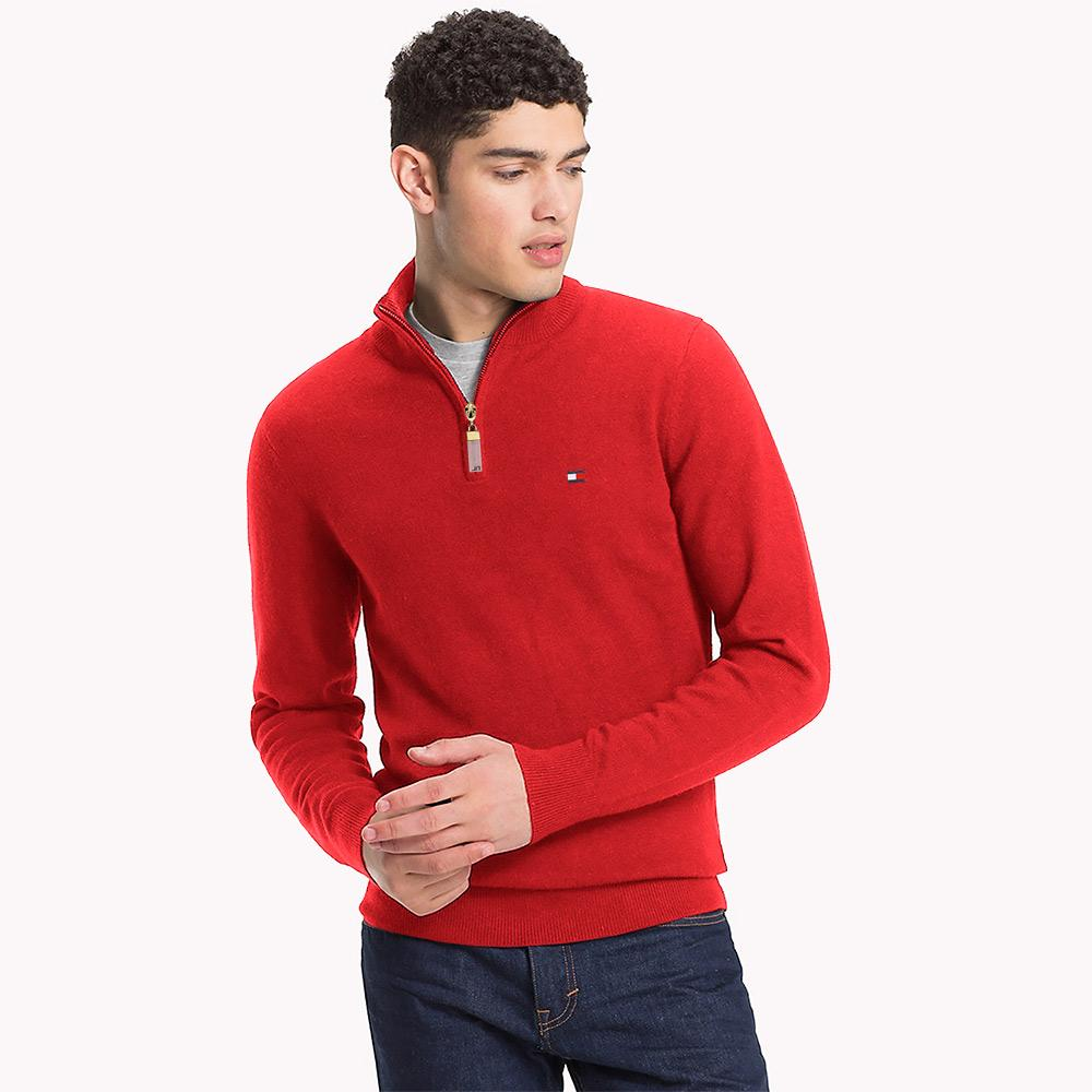 TMH Rimini Quarter Zipper Sweat Shirt Men's Sweat Shirt Fiza Red S
