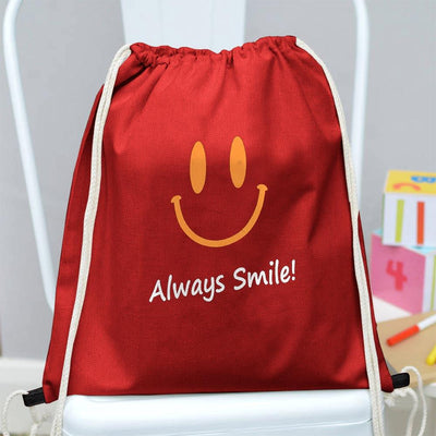 Polo Republica Always Smile Drawstring Bag Drawstring Bag Polo Republica Red Yellow
