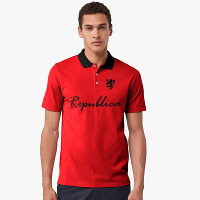 Polo Republica Leo Asmara Polo Shirt Men's Polo Shirt Polo Republica Red Black S