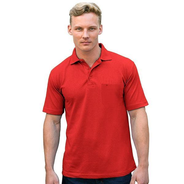 Camrid Essential Short Sleeve Minor Fault Polo Shirt Minor Fault Image Red 2XL