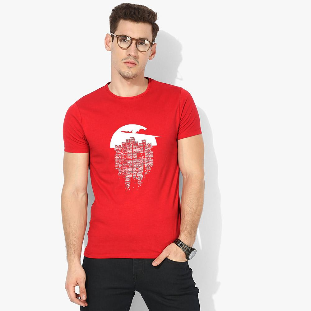 LE Tinglev Crew Neck Tee Shirt Men's Tee Shirt Image Red S