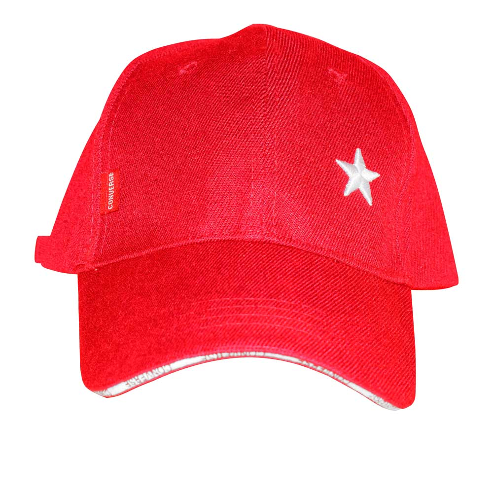 CNV Men's Star Embroidered Signature Logo P-Cap Headwear MB Traders Red