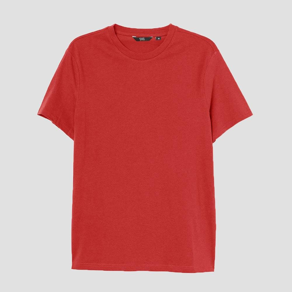SJ Men's Lavish Crew Neck Tee Shirt Men's Tee Shirt Image Red XS