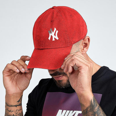 MB NY Signature Embro P Cap Headwear MB Traders Red