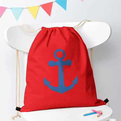 Polo Republica Ship Langar Drawstring Bag Drawstring Bag Polo Republica Red