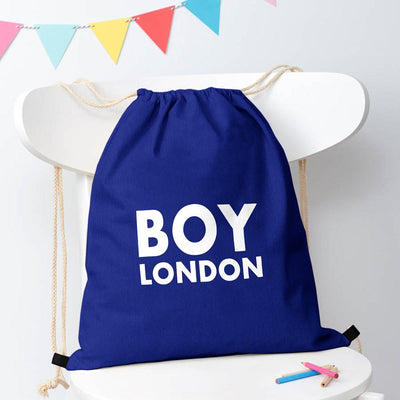 Polo Republica London Boy Drawstring Bag Drawstring Bag Polo Republica Royal White
