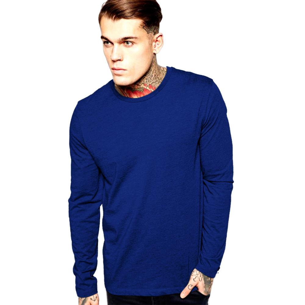 LE Gombzo Klobe long Sleeve Tee Shirt Men's Tee Shirt Image Royal S