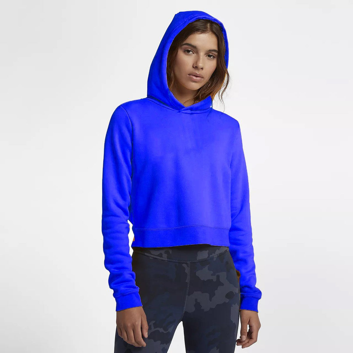 Tally Weijl Women's Minor Fault Fleece Cropped Hoodie Minor Fault SRK Royal Blue 2XS