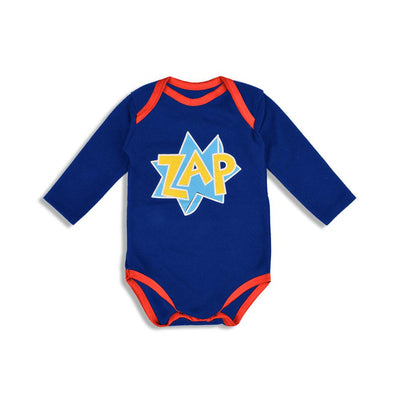 Polo Republica Zap Long Sleeve Pique Baby Romper Babywear Polo Republica Royal 0-3 Months