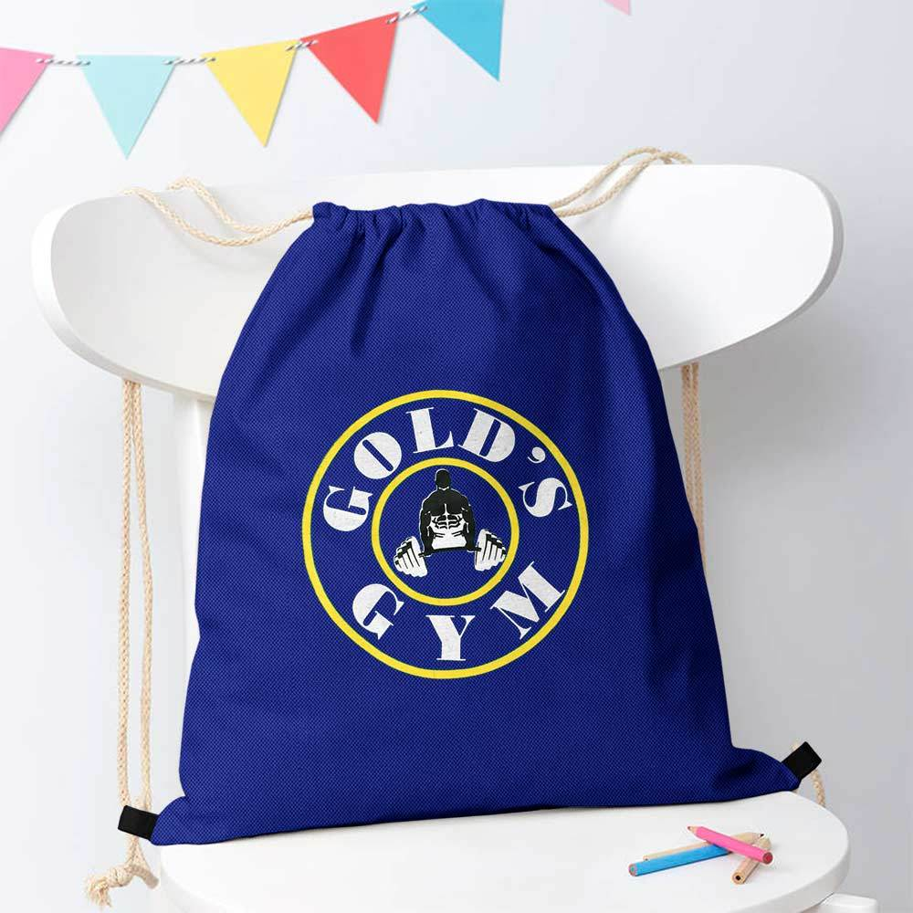 Polo Republica Gold Gym Drawstring Bag Drawstring Bag Polo Republica Royal White