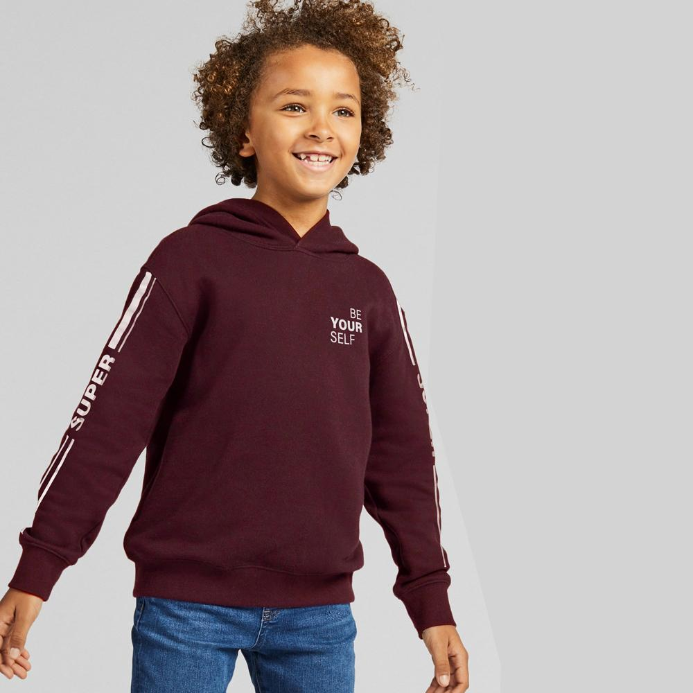 Page One Young Kid's Pullover Hoodie Girl's Pullover Hoodie SRK Maroon 8-10 Years