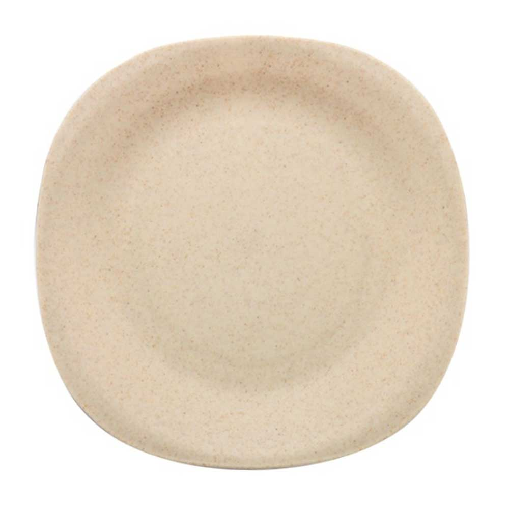 WST Non-Toxin Solid Color Plastic Snack Plates Kitchen Accessories Sunshine China Beige