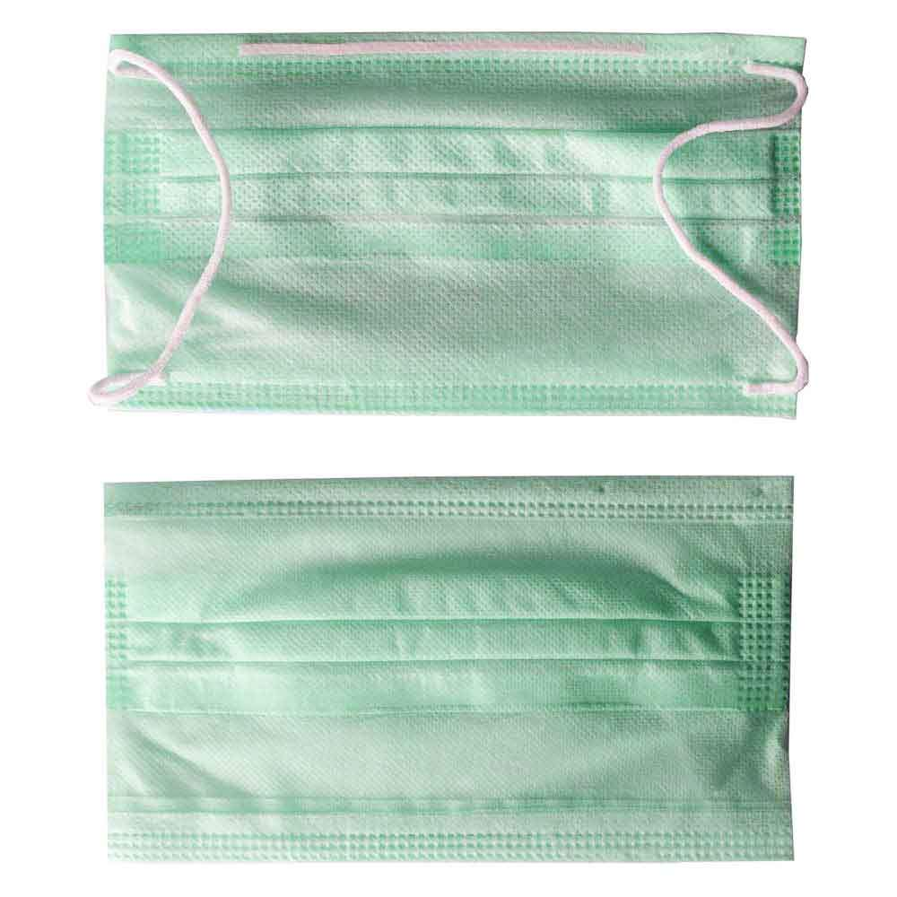 Disposable Perfect Care Surgical Mask Pack of 50 Face Mask Xarasoft Sea Green