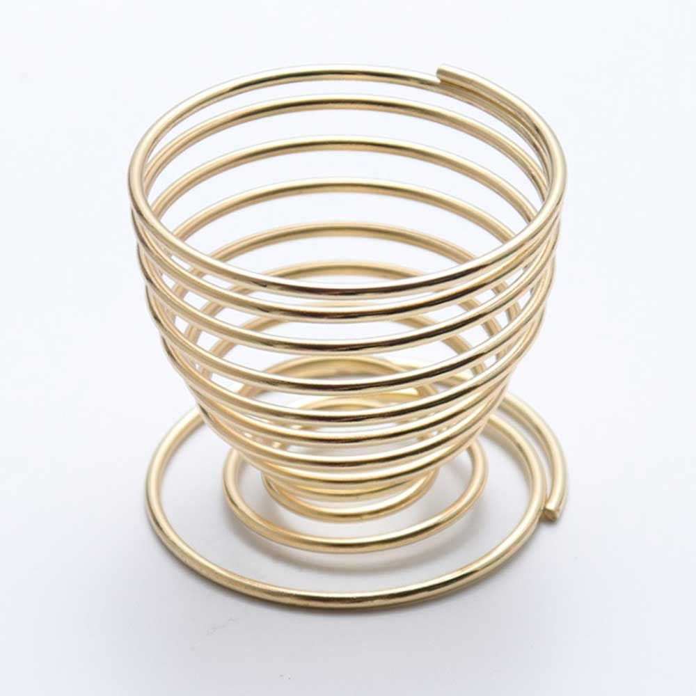Beauty Makeup Egg Spring Metal Holder Home Decor Sunshine China Golden