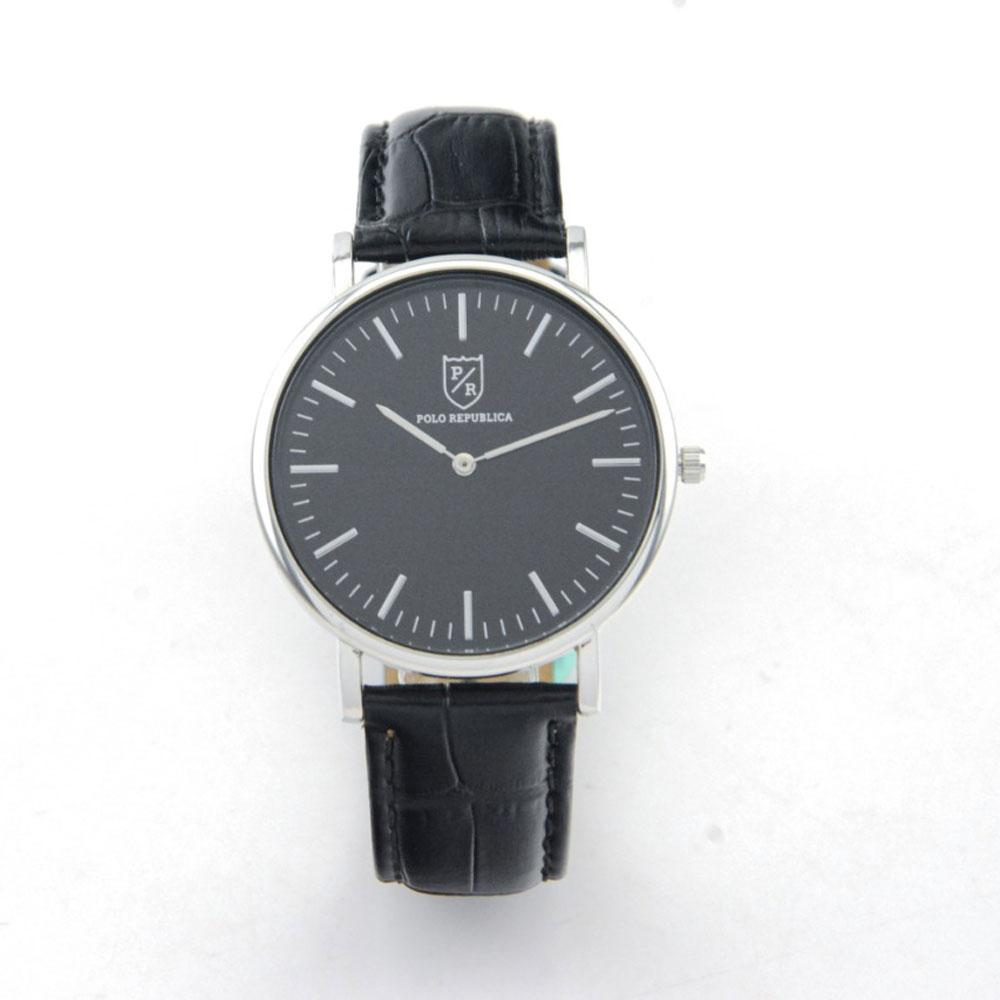 Polo Republica Classic Durham Leather Strap Wrist Watch in a Beautiful Gift Box