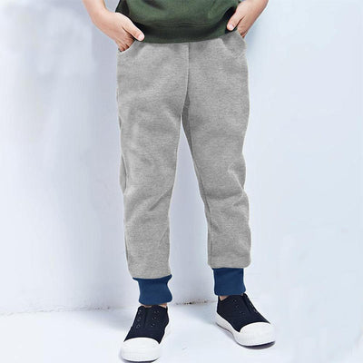 Polo Republica Kids Rafinta Classic winter Sweat Pants Boy's Sweat Pants Polo Republica Silver Marl Navy 4 Years