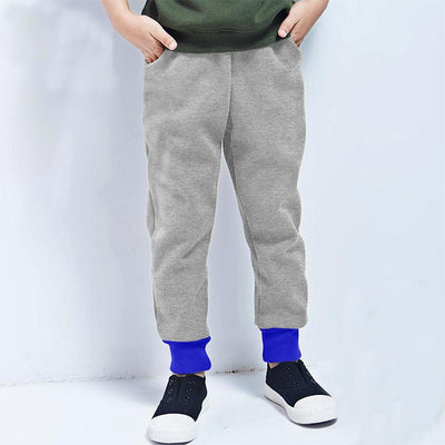 Polo Republica Kids Rafinta Classic winter Sweat Pants Boy's Sweat Pants Polo Republica Silver Marl Royal 2 Years