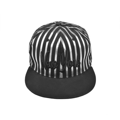 MB New York Baseball Cap Headwear MB Traders Black Silver