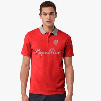 Polo Republica Leo Asmara Polo Shirt Men's Polo Shirt Polo Republica Red Heather Grey S