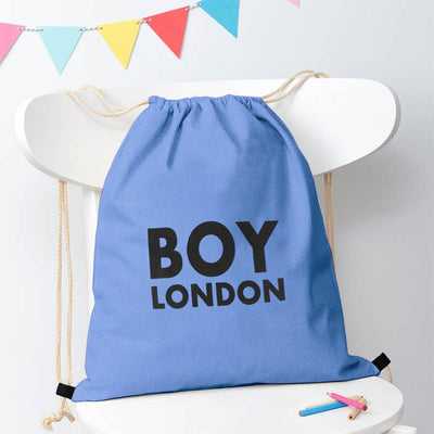 Polo Republica London Boy Drawstring Bag Drawstring Bag Polo Republica Sky Blue Black