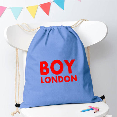 Polo Republica London Boy Drawstring Bag Drawstring Bag Polo Republica Sky Blue Red