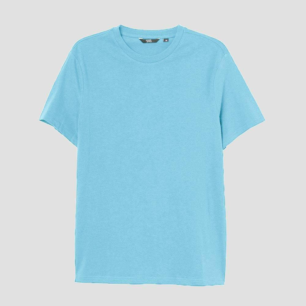 SJ Men's Essential Crew Neck Tee Shirt Men's Tee Shirt Image Sky Blue XS
